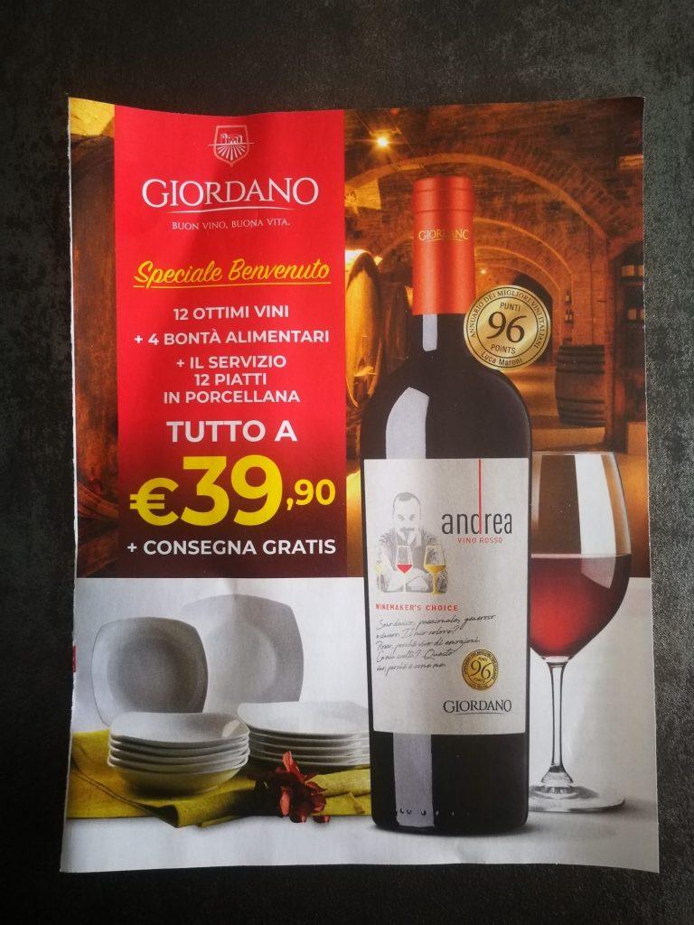 Leaflet Giordano vini